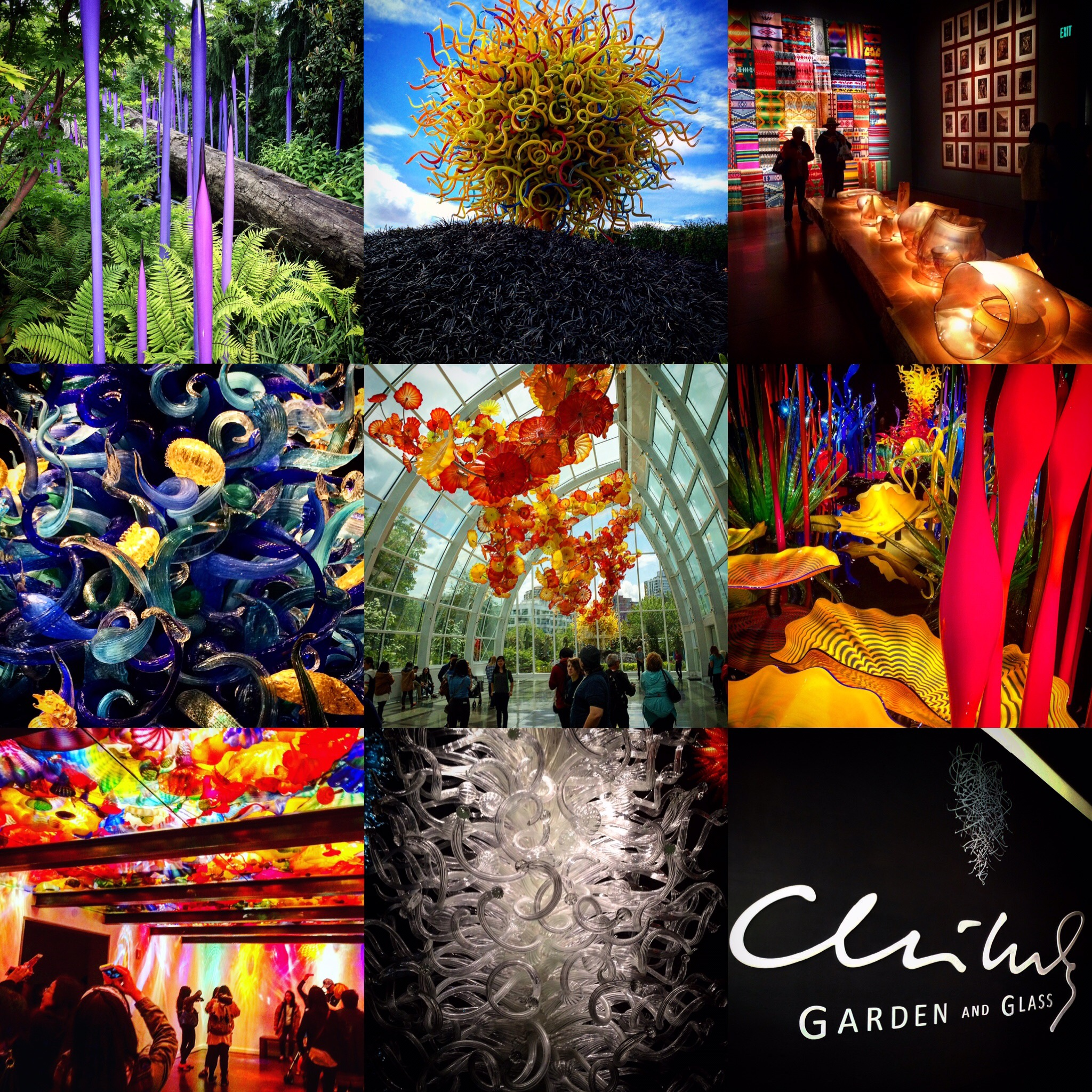 Chihuly Garden Glass Seattle Washington WA ChihulyGG JoeyMcGirr Joey McGirr Blog Travel Traveling Blogger Blogging Collage Art Museum Exhibit Artist Dale Center Space Needle 1