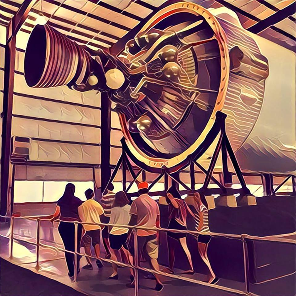 Johnson Space Center Houston Tour July 2016 Joey McGirr JoeyMcGirr Prisma PrismaApp Shuttle SaturnV Rocket Booster Mercury Apollo Gemini Moon Rover LM CSM CM Flight Deck Boeing 747 Astronaut 12