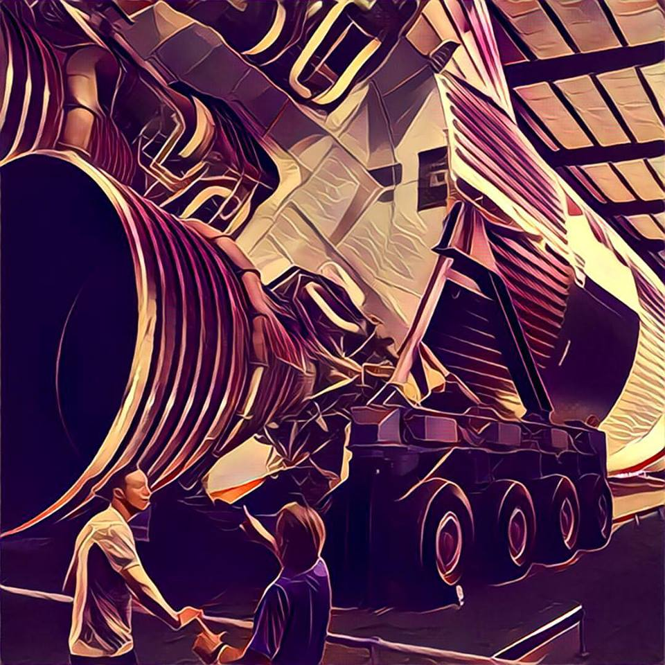 Johnson Space Center Houston Tour July 2016 Joey McGirr JoeyMcGirr Prisma PrismaApp Shuttle SaturnV Rocket Booster Mercury Apollo Gemini Moon Rover LM CSM CM Flight Deck Boeing 747 Astronaut 5